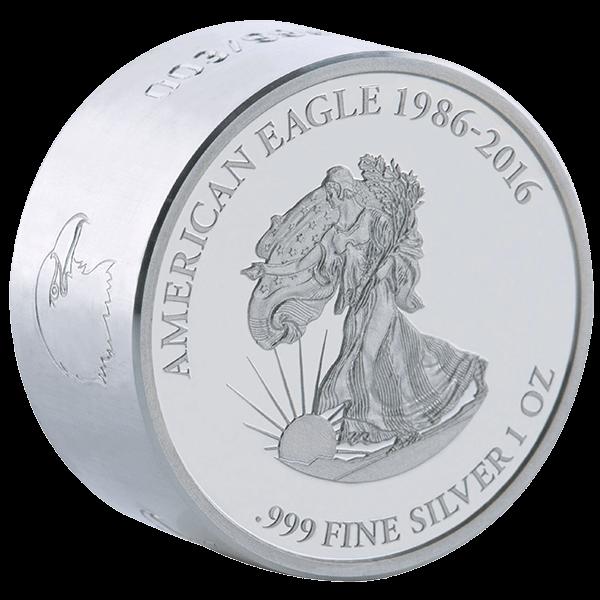 Gabon 2016 1000 Franks Liberty SMICK Ounce 1 oz Proof-like Silver Coin