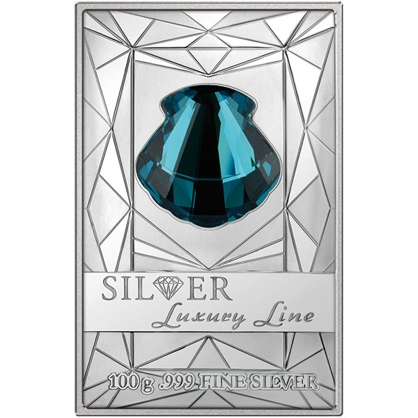 Cook Islands 2015 20$ Silver Luxury Line Turquoise Shell  100 g Proof-Like Silver Coin