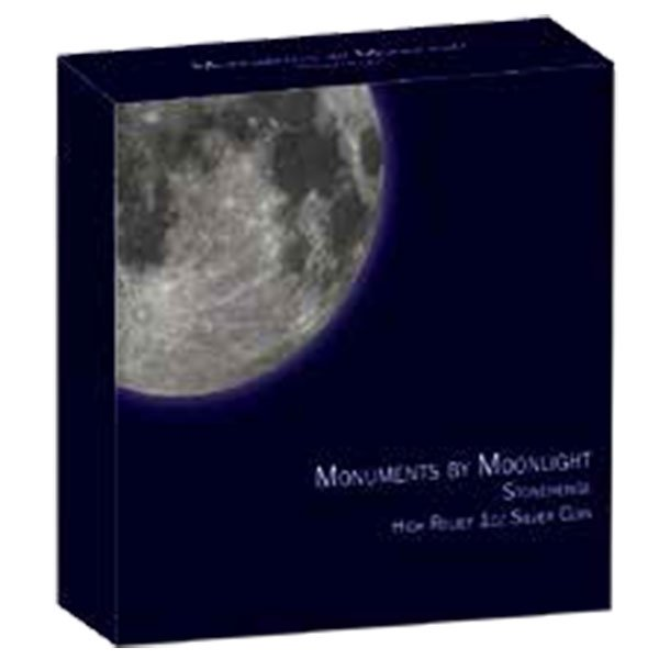 Rushmore Monuments by Moonlight 1 oz Proof Silver Coin 1$ Fiji 2019