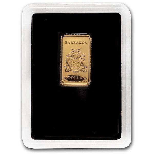 Tropical Pelican 1 oz Silver & 1g Golg Proof-like Set 1$ & 10$ Barbados 2020