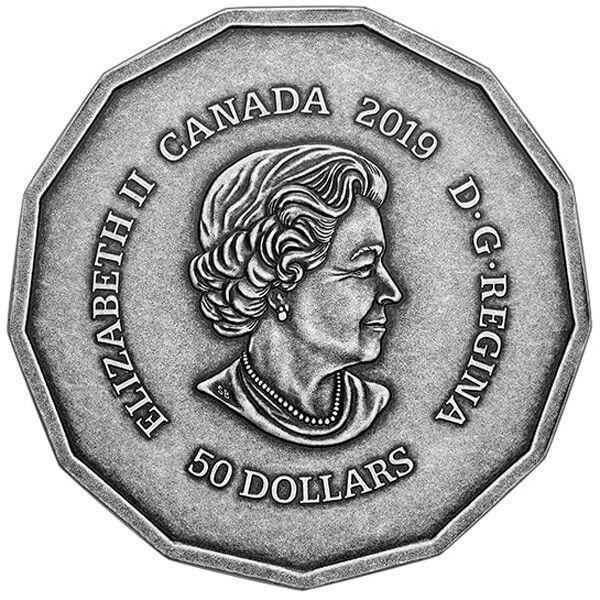 Parliament Hill Centennial Flame 3 oz Antique Finish Silver Coin 50$ Canada 2019