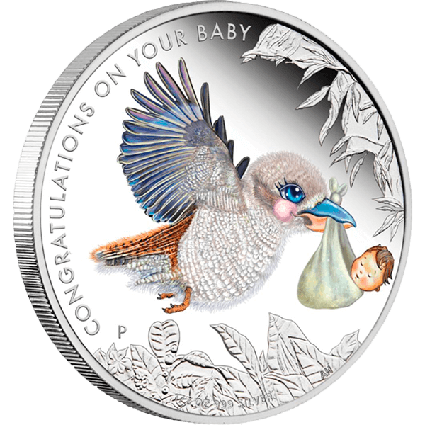 Australia 2013 0.5$ Newborn baby  1/2oz silver proof coin