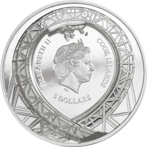 Loop the Loop  1 oz Proof Silver Coin 5$ Cook Islands 2021