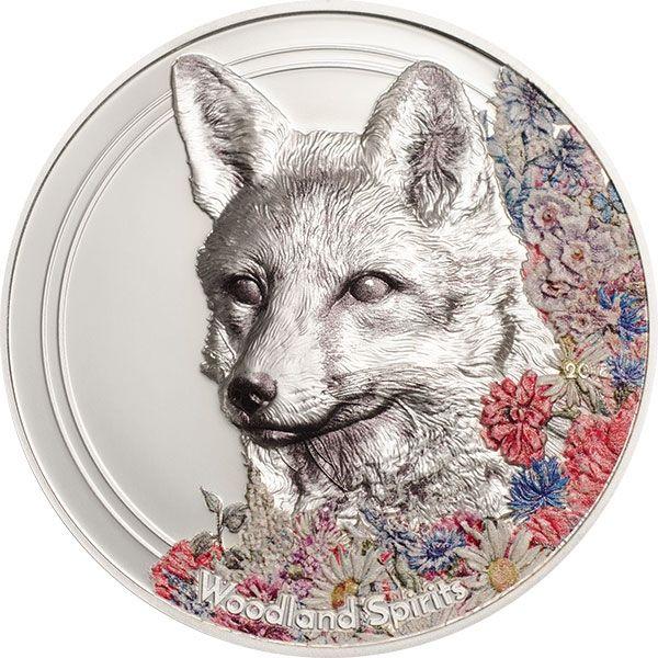 Woodland Spirits Fox 1oz Proof-like Silver Coin Mongolia 2018 500 togrog