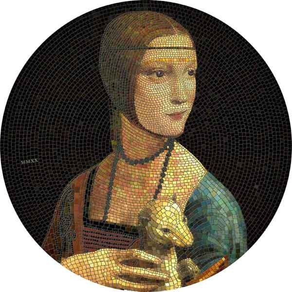 Lady with an Ermine Great Micromosaic Passion 3 oz Proof Silver Coin 20$ Palau 2020