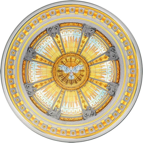 Solomon Islands 2016 10$ Concave Dome Coin Berlin Cathedral (Berlin Dom) 3 oz Proof-like Silver Coin