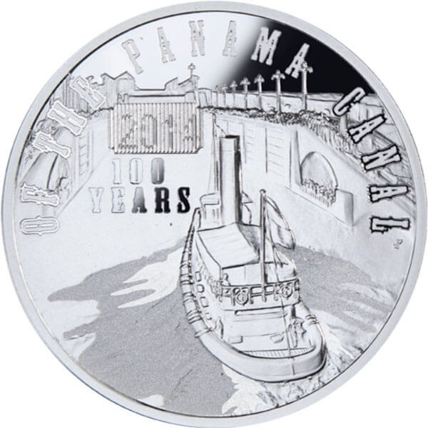 Niue 2014 1$ 100th anniversary of the Panama Canal Proof Silver Coin