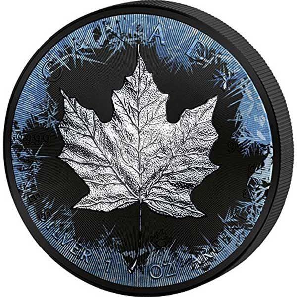 30th Anniversary Maple Leaf Deep Frozen Edition 1oz Ruthenium BU Silver Coin 5$ Canada 2018