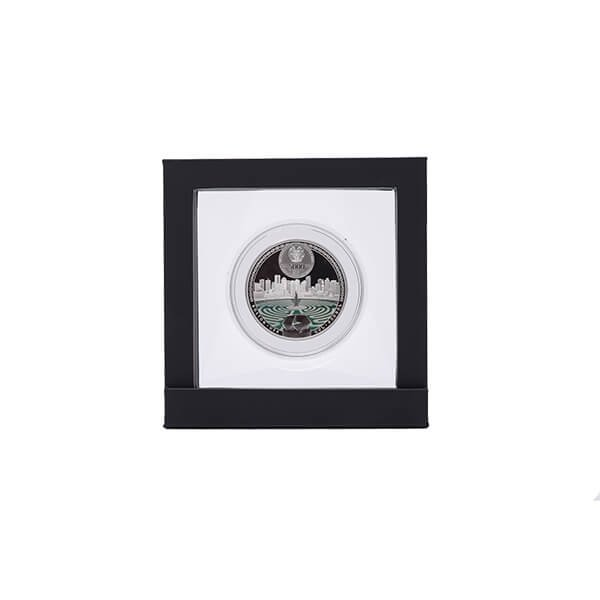 Armenia 2016  5000 dram The Labyrinths of the World - Boston Labyrinth 2 oz Proof Silver Coin