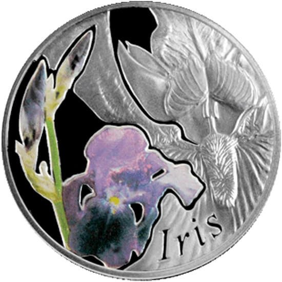 Belarus 2013 10 rubles Iris Proof Silver Coin
