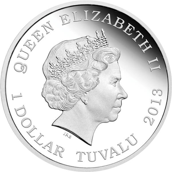 Tuvalu 2013 1$ Three-Headed Dragon 2013 Dragons of Legend Proof Silver Coin