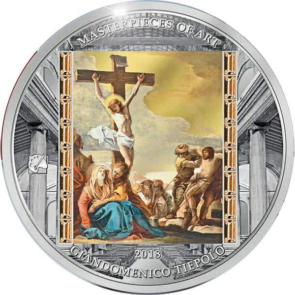 Good Friday Masterpieces of Art Easter Edition 3oz Proof Silver Coin Cook Islands 2018 20$