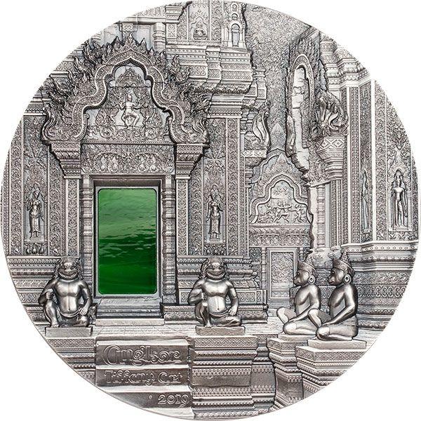 Angkor Tiffany Art 1 kilo Antique finish Silver Coin 50$ Palau 2019