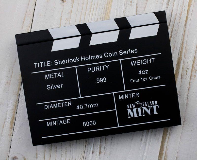 Sherlock Holmes  4 x 1oz Silver Set 4 x 2$ Cook Islands 2007