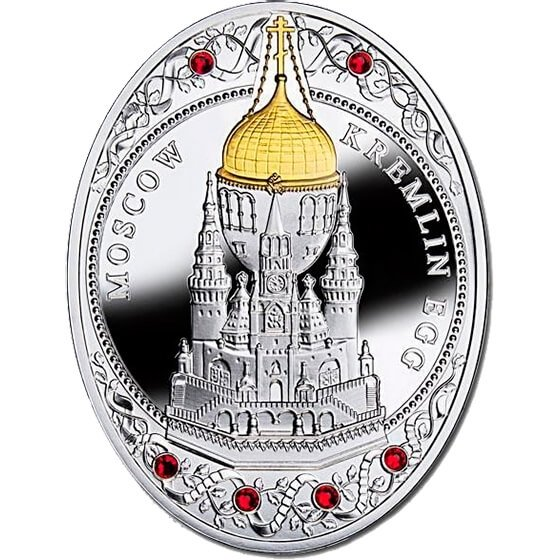 Niue 2013 1$ Moscow Kremlin Egg Imperial Faberge Eggs Proof Silver Coin