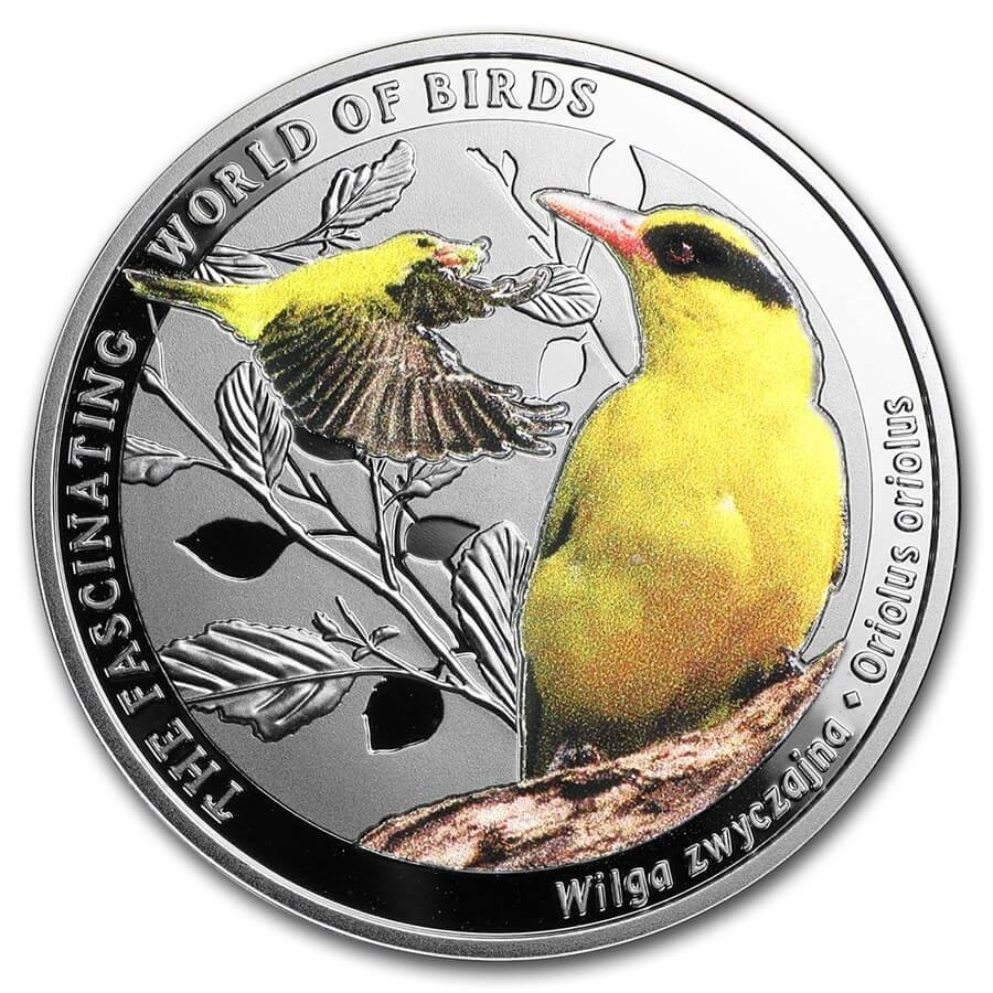 Golden OrioleThe Fascinating World of Birds Proof Silver Coin 1$ Niue 2016