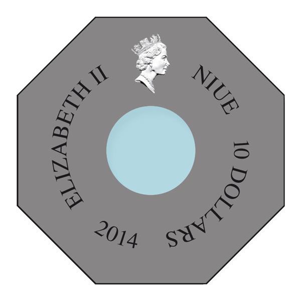 Niue 2014 9x 10$ The Fresco Under The Dome  1kg  Rimless Colourprint Silver Coin