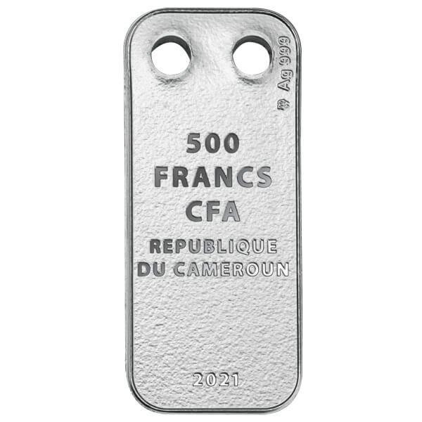 Year of the Ox Proof Silver Coin 500 Francs CFA Cameroon 2021