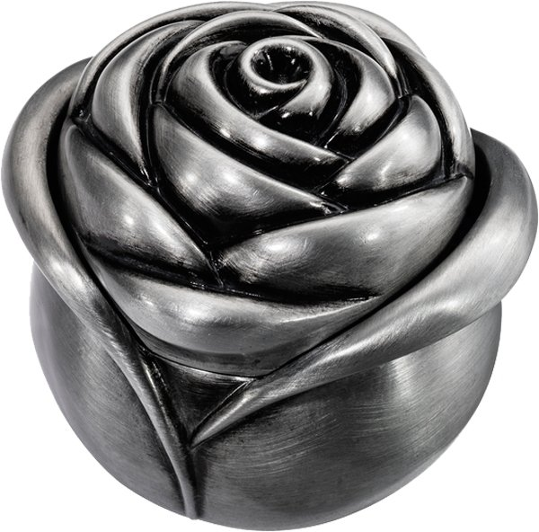 Cook Islands 2016 1$ Rose in your Heart 1/2 oz Antique finish Silver Coin