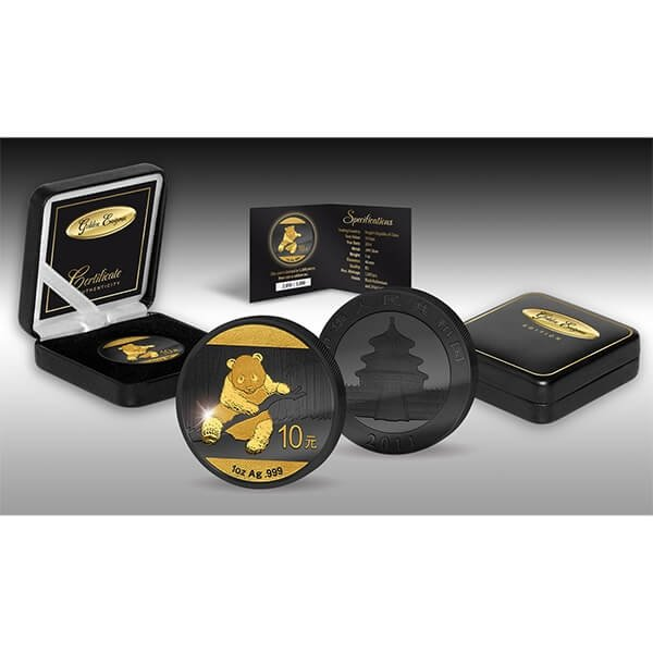 China 2014 10 Yuan Golden Enigma Edition 2014 - PANDA BU Silver Coin