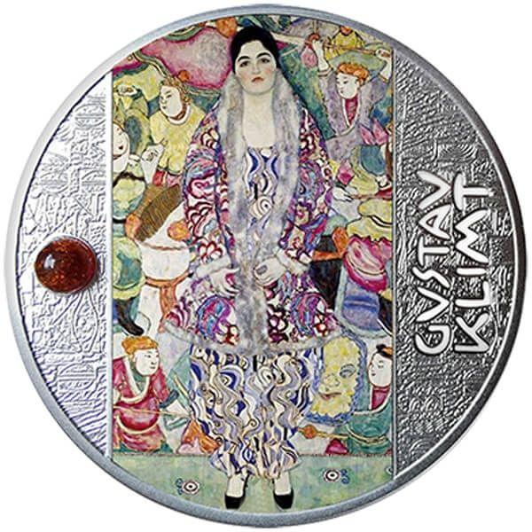 Portrait of Friederike - Maria Beer Gustav Klimt  Proof Silver Coin 500 Francs CFA Cameroon 2021