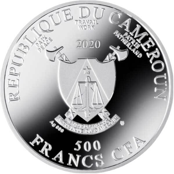 Expectation Golden Five Proof Silver Coin 500 Francs Cameroon 2020