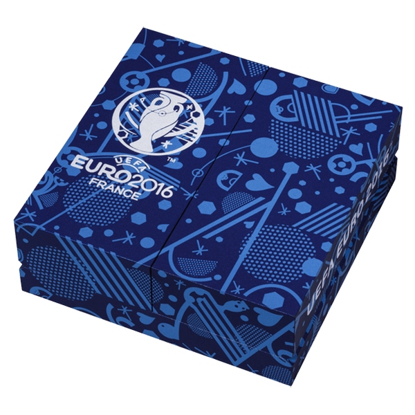 Fiji 2016 10 $ UEFA Euro 2016 1 Kilo Kg  BU Silver Coin