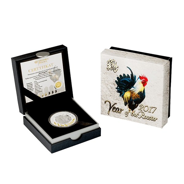 Niue 2017 1$ Lunar Year of the Rooster 2017 - 7 Elements Proof Silver Coin
