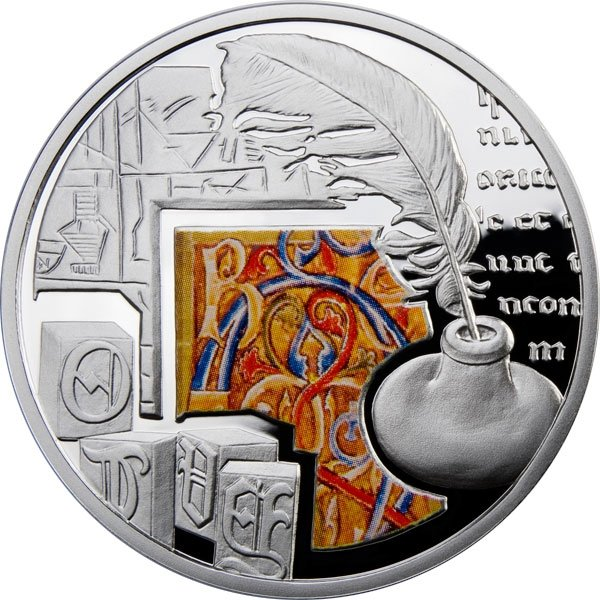 Writing Mankind's Crucial Achievements Proof Silver Coin 1$ Niue 2011