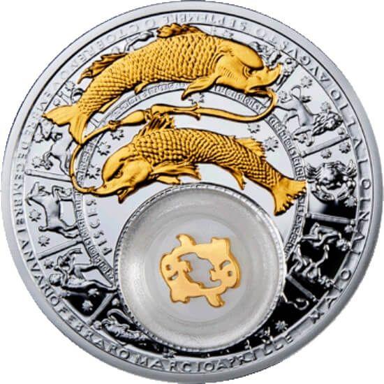 Belarus 2013 20 rubles Pisces Belarus Zodiac 2013 Proof Silver Coin