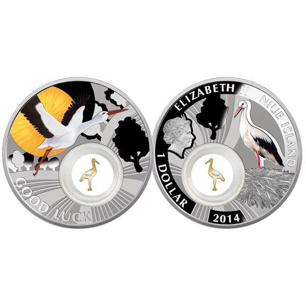 Niue 2014 9x1$ Set Symbols of Luck  Proof Silver Set
