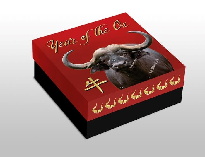 Year of the Ox Chinese Calendar Proof Silver Coin 1$ Niue 2021