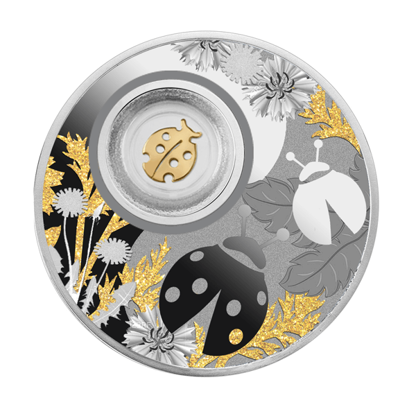 Ladybug Lucky Coins Proof Silver Coin 500 Francs Cameroon 2020