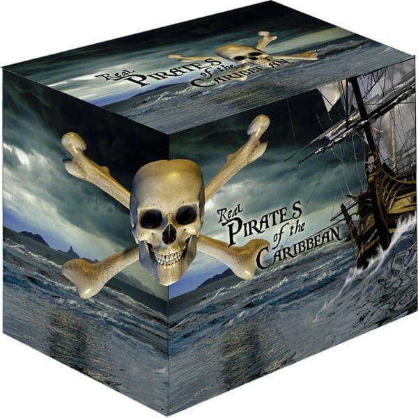 Niue 2011 4x2$ 2011 Real Pirates of the Caribbean Proof Silver Set