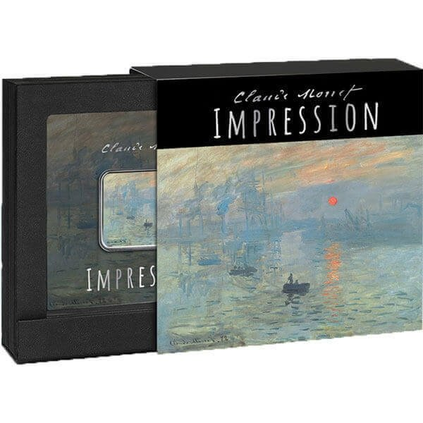 Impression Impressionism - Evanescent Image and Sounds Proof Silver Coin 1$ Niue 2018