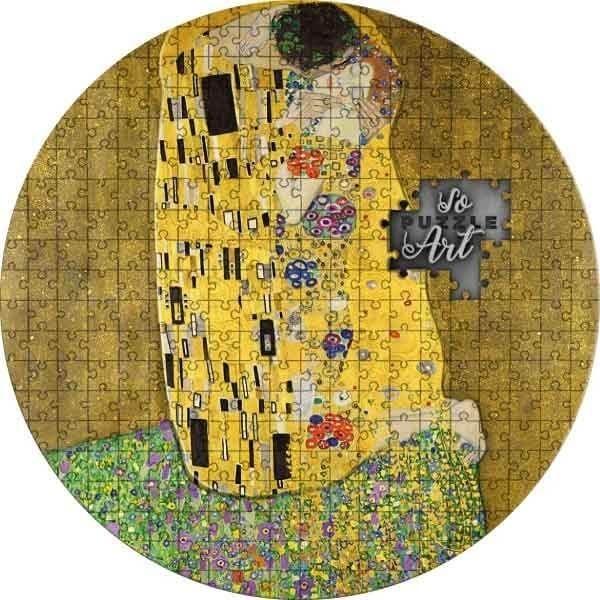 Gustav Klimt The Kiss soPuzzle Art 3 oz Antique Finish Silver Coin 3000 Francs Cameroon 2019