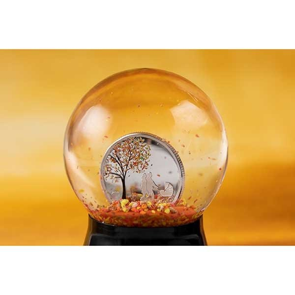 Indian Summer Globe Proof-like Silver Coin Cook Islands 1$ 2018
