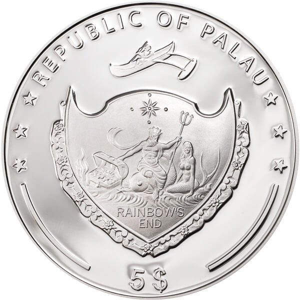 Palau 2013 5$ Ounce of Luck 2013 Proof Silver Coin