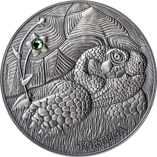 Andorra 2014 10 diners Pond Turtle Europe - Atlas of Wildlife Antique finish Silver Coin