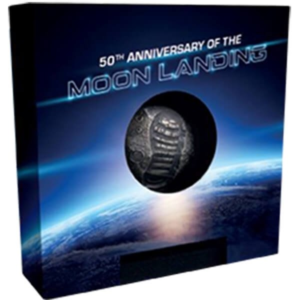 The Moon in Your Hand 1 oz Proof Silver Coin 5$ Barbados 2019