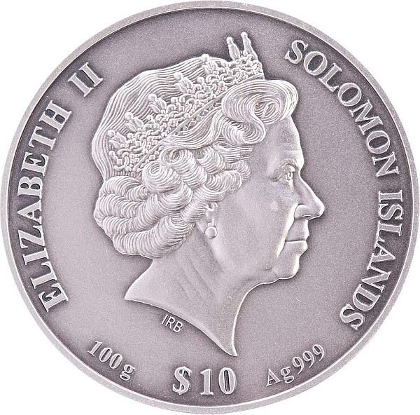 Forbidden City 100g Antique Finish 4-Layer Silver Coin 10$ Solomon Islands 2020