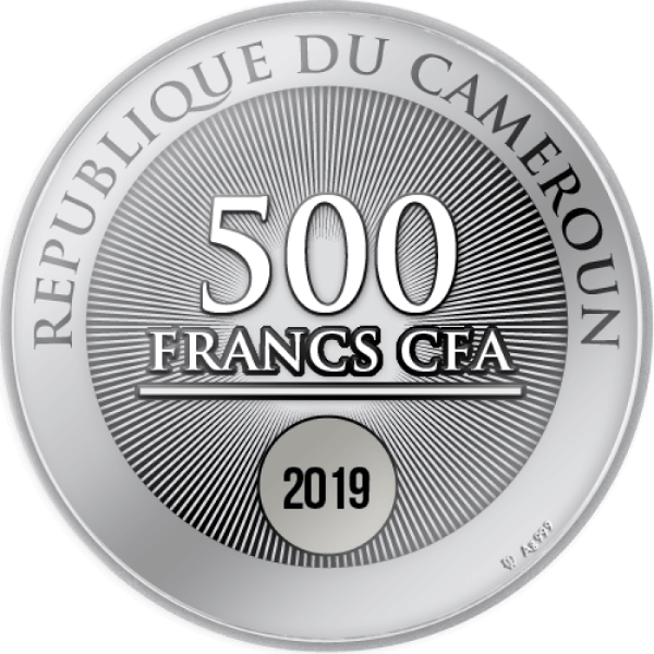 TWO SWANS Proof Silver Coin 500 Francs Cameroon 2019
