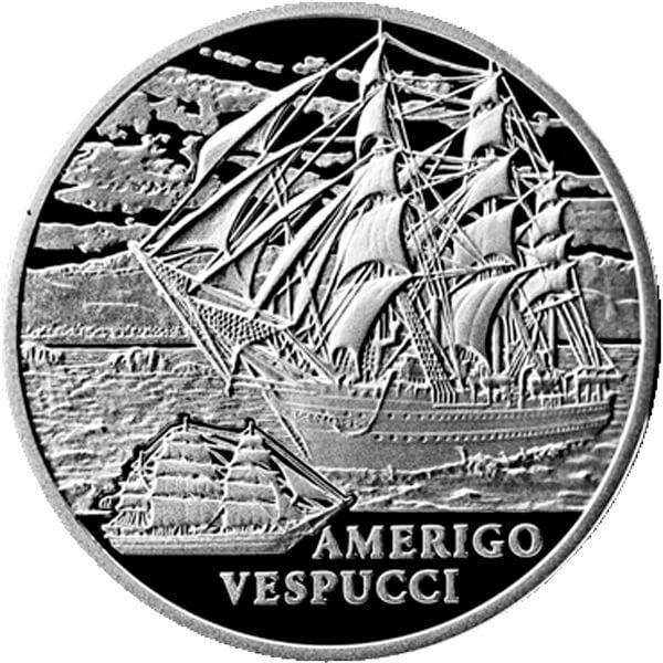 Belarus 2010 20 rubles Amerigo Vespucci BU Silver Coin