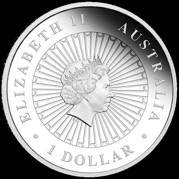 Australia 2014 1$ Masked Owl  Australian Opal Series Proof Silver Coin