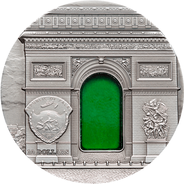 Neoclassicism Tiffany Art 2 oz UNC Silver Coin 10$ Palau 2012