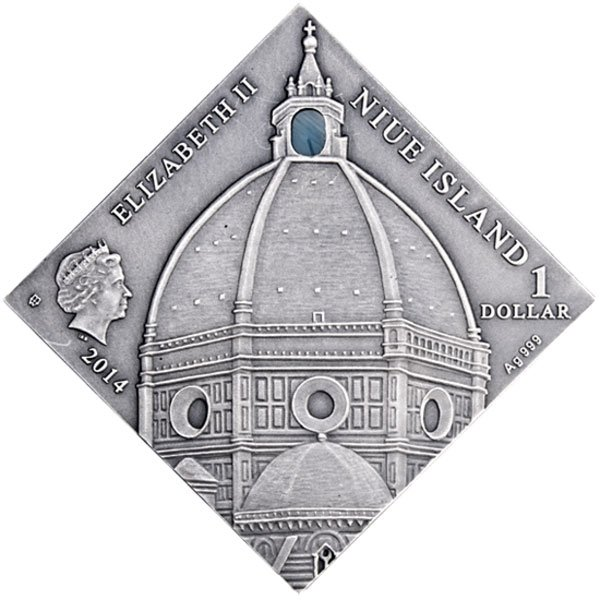 Renaissance Art The Art that Changed the World  Antique finish Silver Coin 1$ Niue 2014