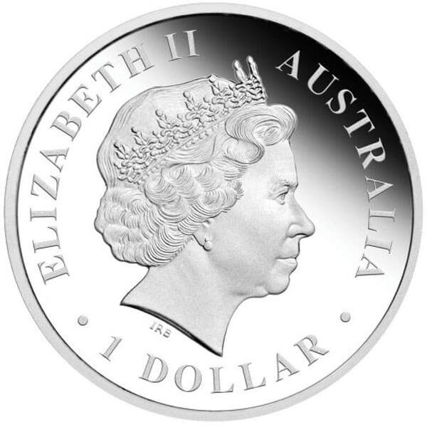 Discover Australia  - Emu Colored Proof Silver Coin 1$ Australia 2011