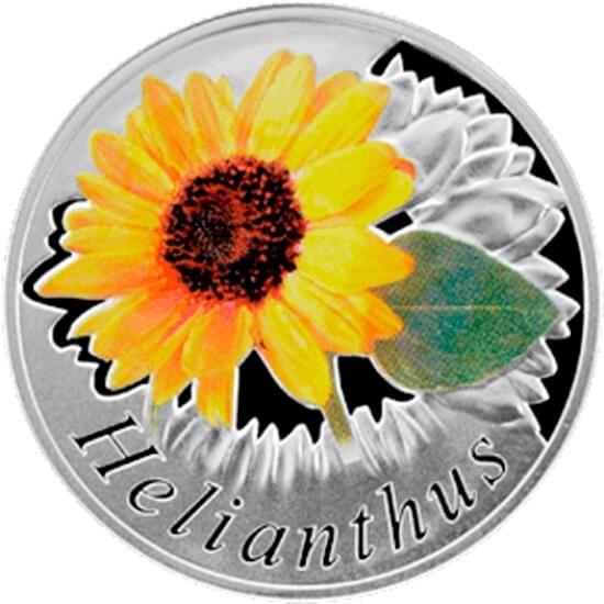 Belarus 2013 10 rubles Helianthus Proof Silver Coin