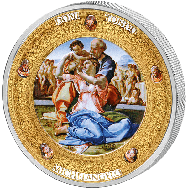 Niue 2016 10$ Doni Tondo by Michelangelo Perfection in Art 2 oz Proof Silver Coin