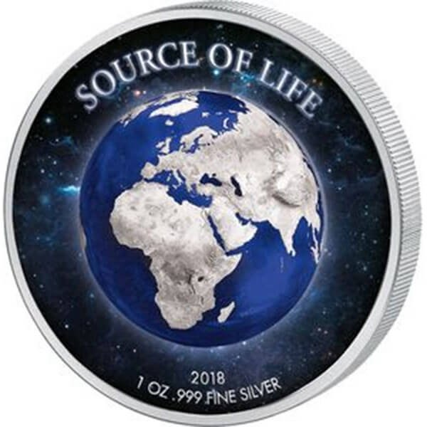 The Earth Source of Life 1 oz Proof-like Silver Coin 1000 Francs Benin 2018